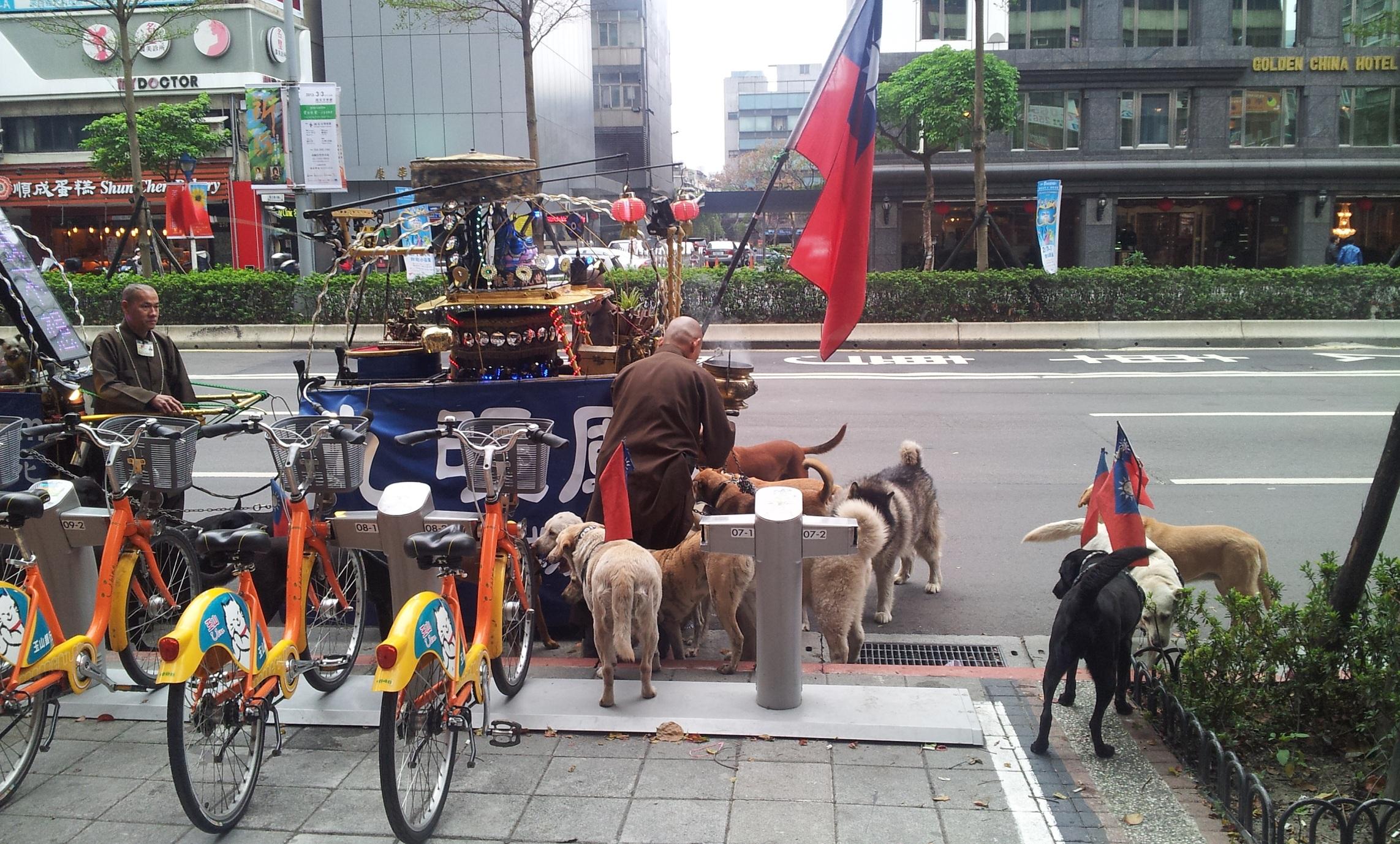 奇怪的街景与开心的聚会 上海新天地 台商太太新天地 高清图片